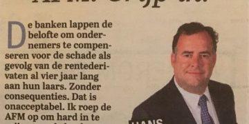 Column Hans Biesheuvel - Telegraaf - AFM: Grijp in!