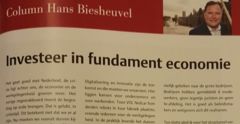 Investeer in fundament economie