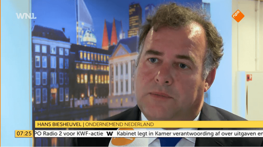 Hans Biesheuvel bij WNL over de wensen van ondernemers bij de formatie