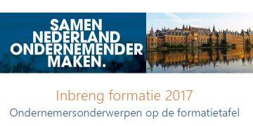 Inbreng ondernemers bij de formatie 2017
